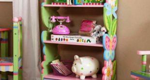 kids bookshelf girls colorful kids bedroom NQSDOWW