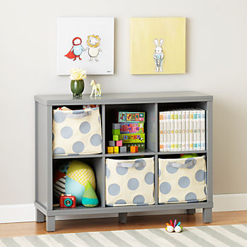 kids bookshelves cubic wide bookcase (grey, 6-cube) HIMXQQJ