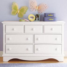 kids dressers: kids 7-drawer white walden dresser - white 7-drawer walden MHAKLNC
