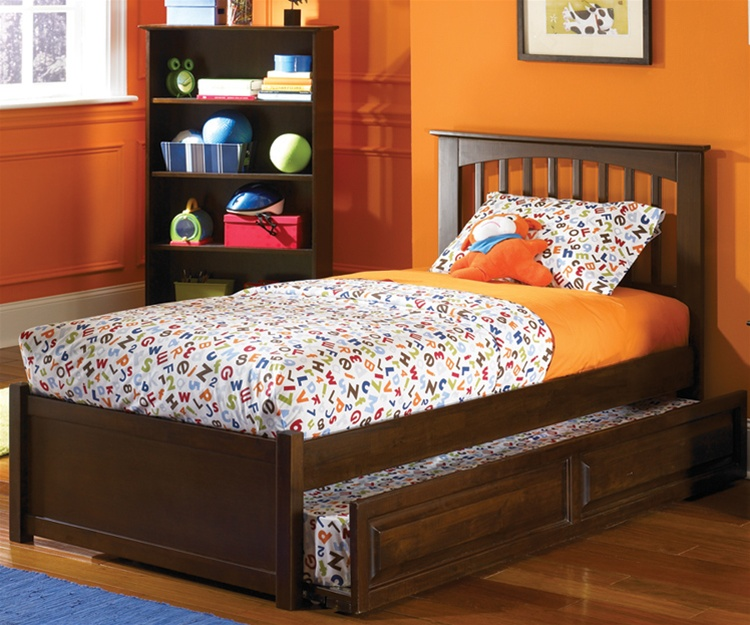 kids trundle beds atlantic furniture antique walnut brooklyn trundle bed kids bedroom  furniture trundle beds BFPXOEJ