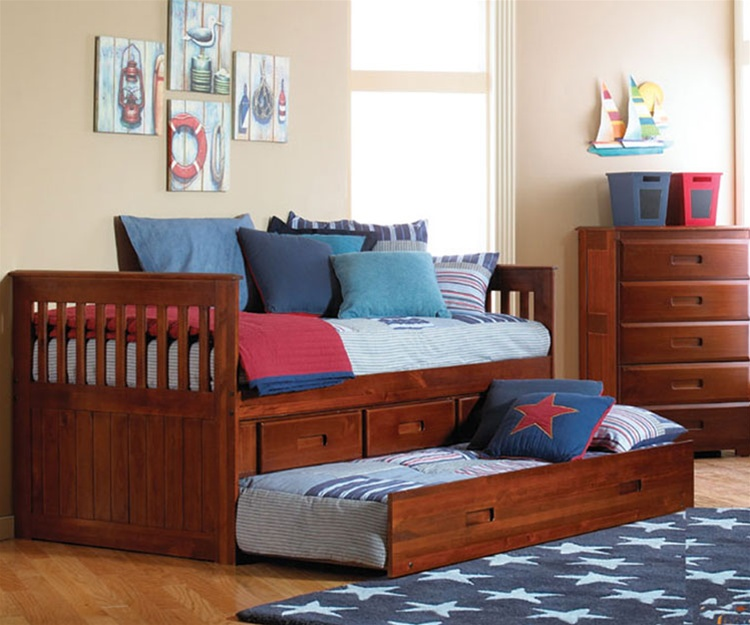 kids trundle beds discovery world furniture merlot rake bed twin captains trundle bed kids  bedroom VRYCJMX