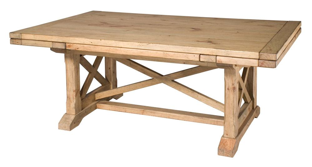 kincaid homecoming solid wood refractory trestle table in vintage pine  33-054p TBRYFWQ