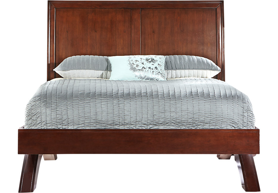 king size bed frames belcourt cherry 3 pc king platform bed with sleigh headboard QHXQXCS