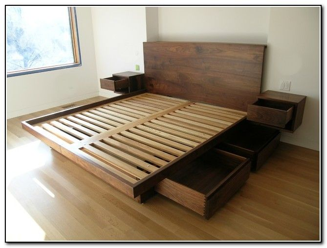 king size bed frames king size platform bed with drawers planshome furniture design - beds : VGCNRJP