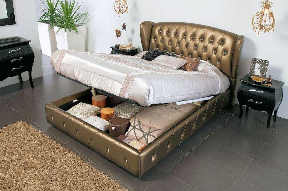 king size bed frames king storage bed frame image ISDZSBO