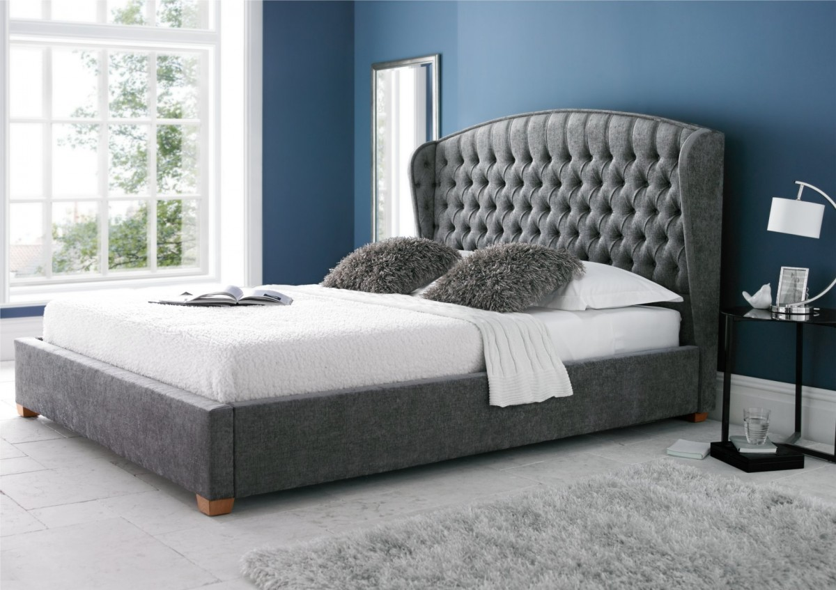 king size bed frames upholstered bed frame king ideas BTLRNCC