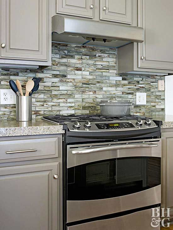 kitchen backsplash think green LKODWMS