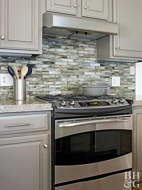kitchen backsplash think green LKODWMS