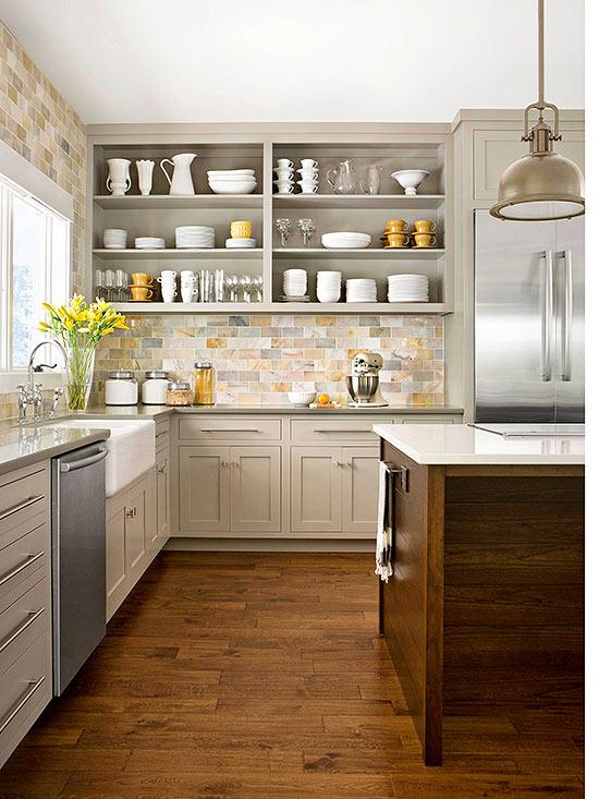 kitchen backsplash variation of hues ONEVMKJ