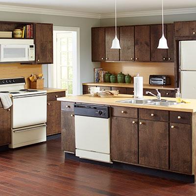 kitchen cabinets before DMJFOTL