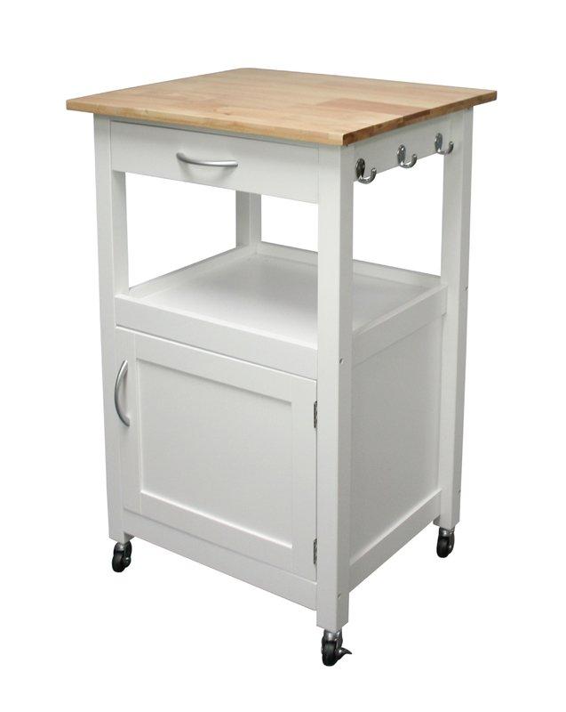 kitchen cart charlton home jordan kitchen island cart with natural wood top u0026 reviews | DBGNTLB