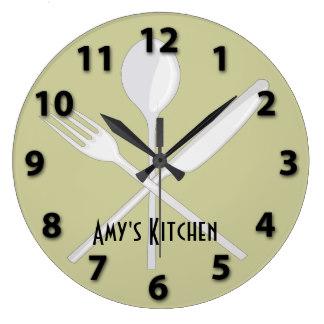 kitchen clocks kitchen utensils round wall clock XXSULDP