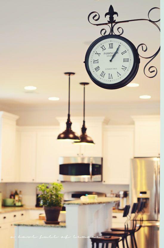 kitchen clocks old train station clock in kitchen AYDIRFH