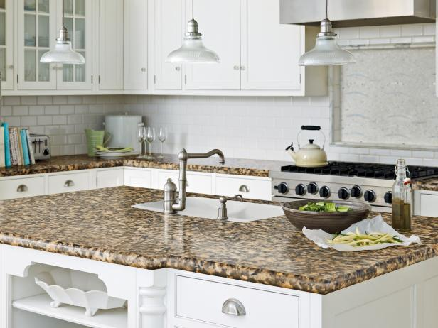 kitchen counter tops imitation granite countertop in traditional white kitchen ZFYHGPC