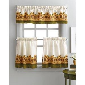 kitchen curtain kitchen curtains youu0027ll love | wayfair XWHQROC