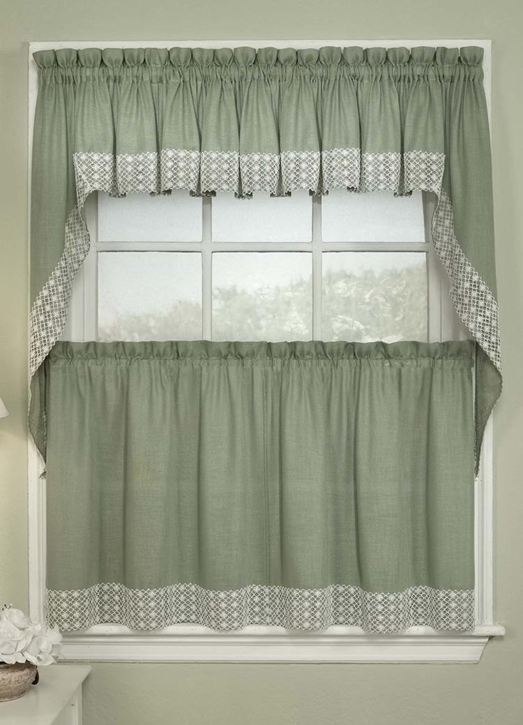 kitchen curtain salem curtains - sage RPSFGFP