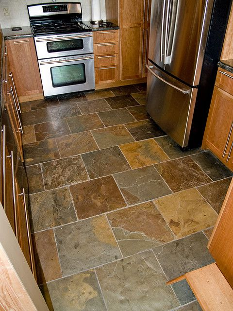 kitchen floor tile slate kitchen flooring may be your answer to durability, beauty, and style ACHGNJV