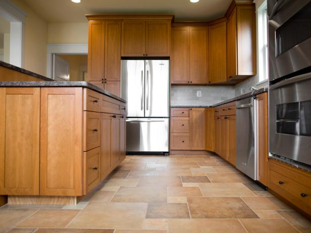 kitchen floor tile spacious kitchen with wood and tile YSWLRVJ