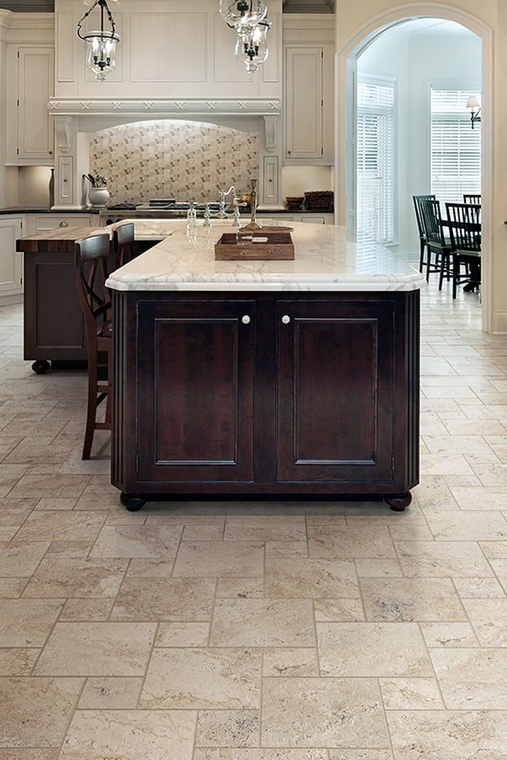kitchen floors you can get the luxurious look of travertine for the cost of ceramic QKJRLEV