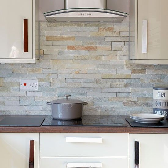 kitchen wall tiles hi-gloss cream kitchen BSEPUNO