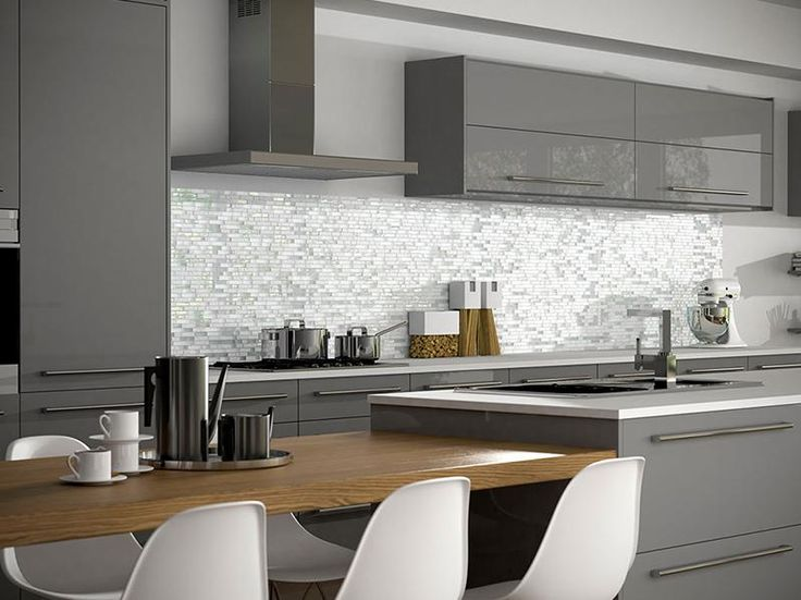 kitchen wall tiles in grey white mosiac modern design XRDVMIQ