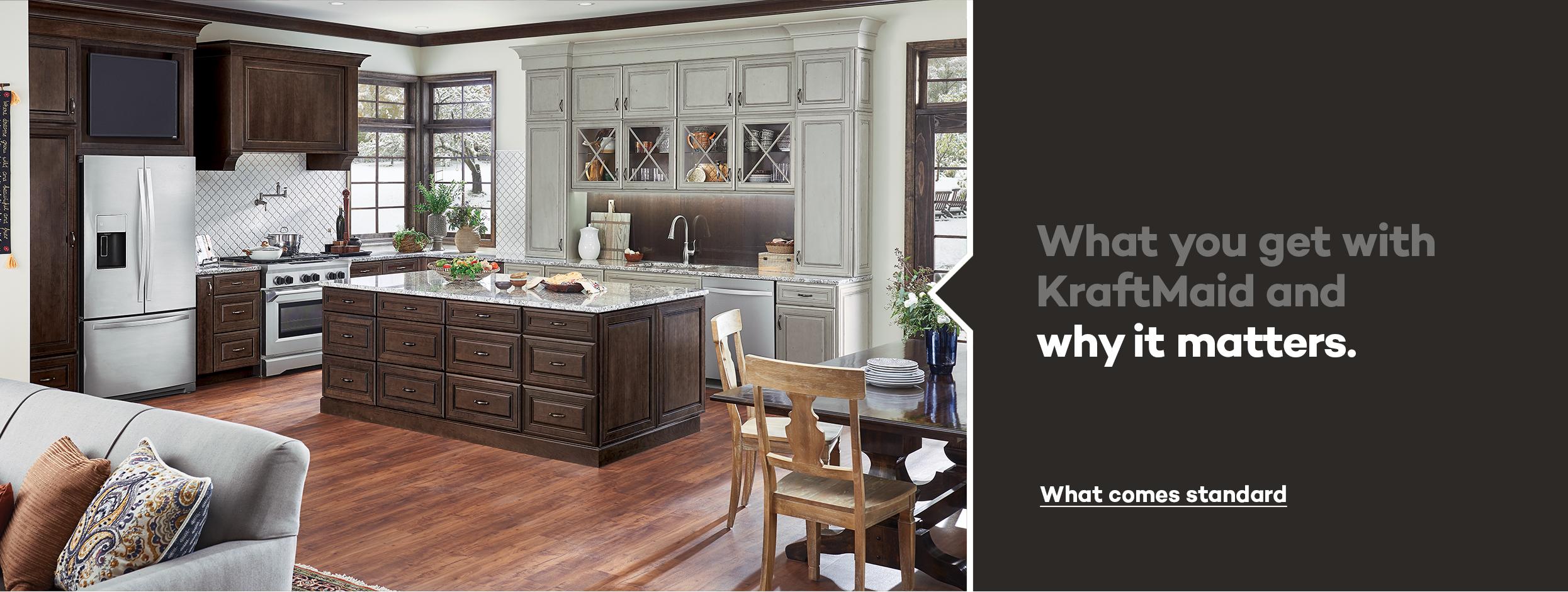 kraftmaid cabinets kraftmaid: beautiful cabinets for kitchen u0026 bathroom designs. ZJYKSDP