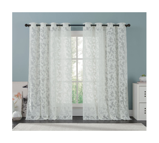 lace curtains best lace curtain with grommets: brightmaison white lace curtain panel EVSYMUX