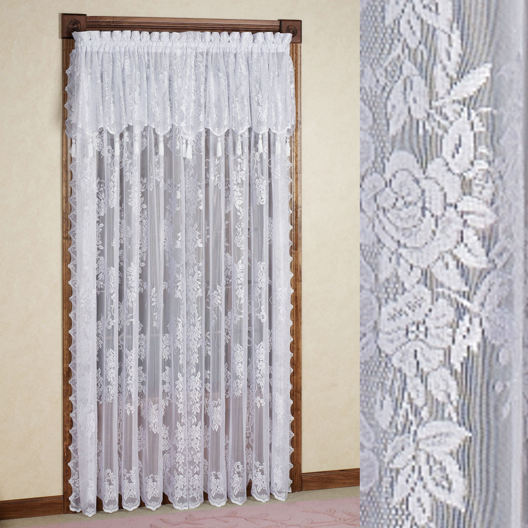 lace curtains carly lace curtain panel with valance. click to expand PUTMCQH
