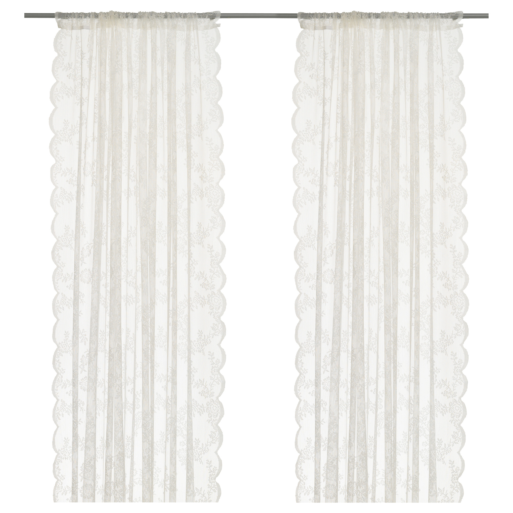 lace curtains ikea alvine spets net curtains, 1 pair NUUWCZV