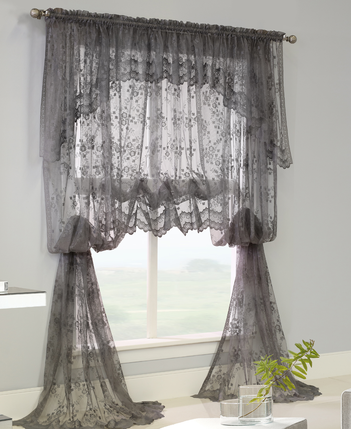 lace curtains mona lisa jacquard lace ensemble - habitat OAVPFRQ