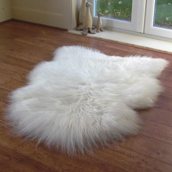 large white icelandic sheepskin rug YNJYSEO