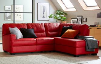 leather corner sofa cargo leather and leather look left hand facing arm 2 piece corner sofa ERYYUUD