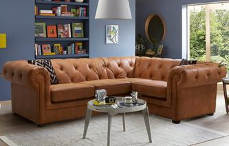 leather corner sofa venice left hand facing arm 2 seater corner sofa saddle RYKMAHY