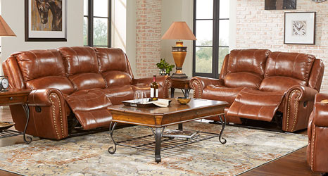 leather furniture living room sets, reclining leather living rooms GKNAUEE