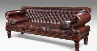 leather regency antique sofa QWVBPNQ