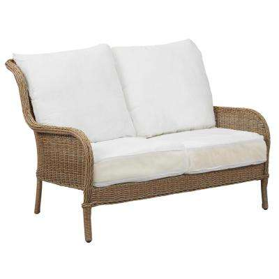 lemon grove custom wicker outdoor loveseat GQZUXEQ