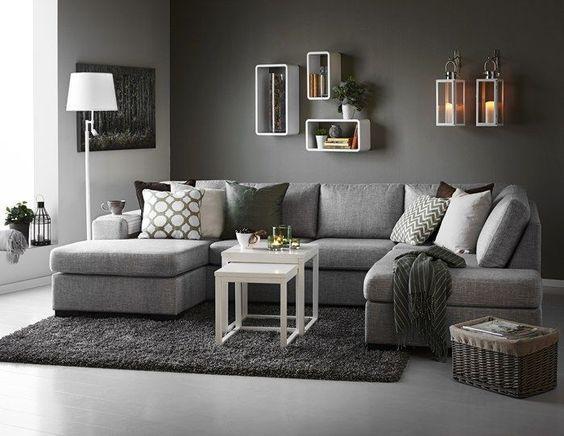 living room couches inredning vardagsrum grå soffa - sök på google: RZAUTLD