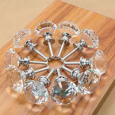 lot 1000 crystal glass cabinet knobs drawer dresser knobs lot cupboard  handles WGDIQZC