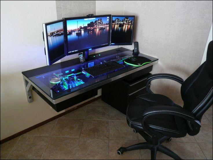 lovely pc gaming desk setup best ideas about gaming computer desk on DJSUWAM