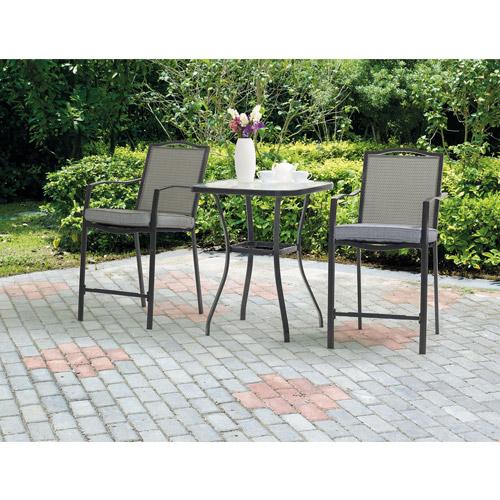 mainstays oakmont meadows 3-piece patio bistro set, seats 2 ZMHQZYZ