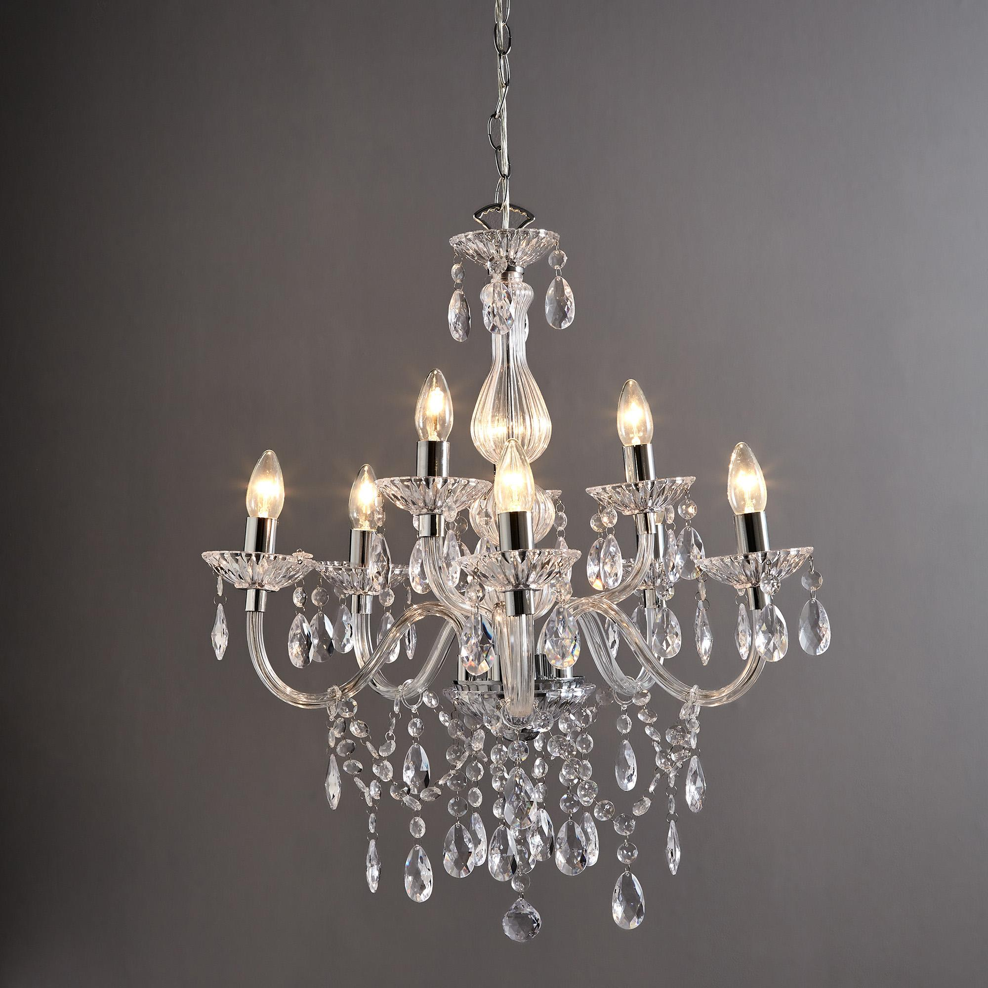 maisie 8 light glass chandelier DGLNMJR