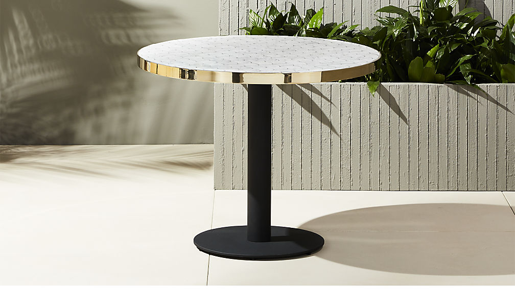 marble outdoor bistro table ... CLBBMQX