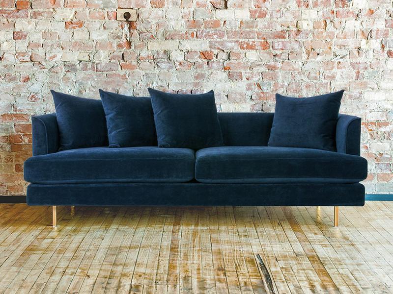 Velvet Sofa for Your Improved Living Room Environment