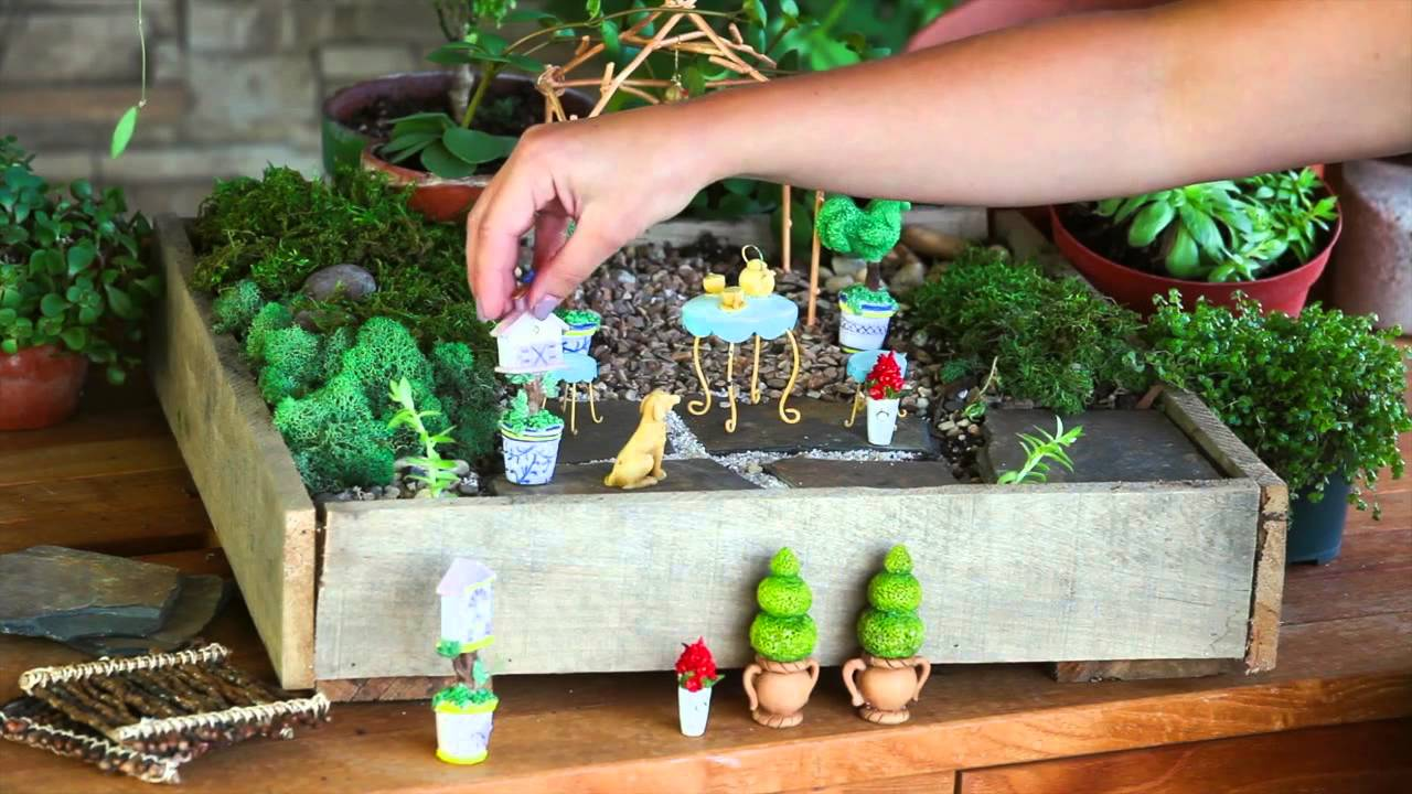 mini garden accessories from new creative by evergreen enterprises - youtube FGFCZXP