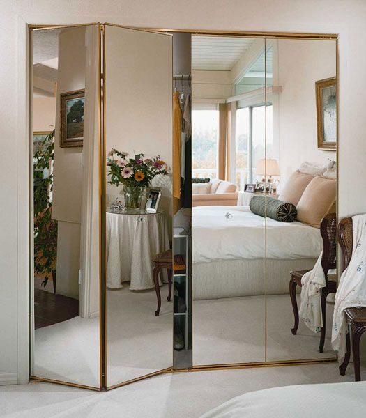 mirrored closet doors create a new look for your room with these closet door ideas TCDSROI