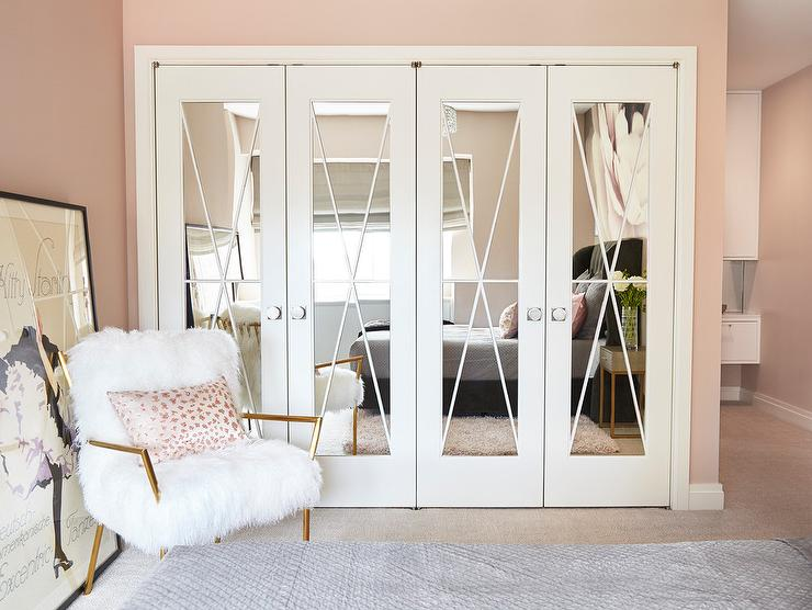 mirrored closet doors with x trim RYXMKCL