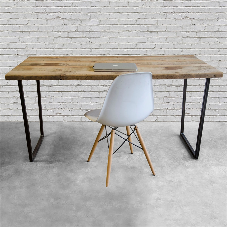 modern desk brooklyn modern rustic reclaimed wood desk JOUSQVT