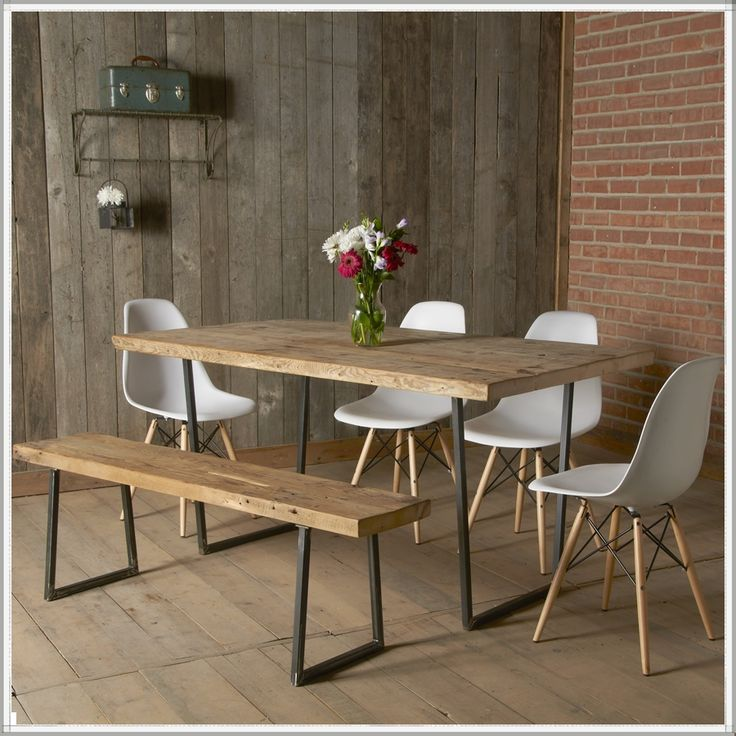 modern dining table industrial reclaimed table | modern rustic furniture| recycled| dining VXVQFKH
