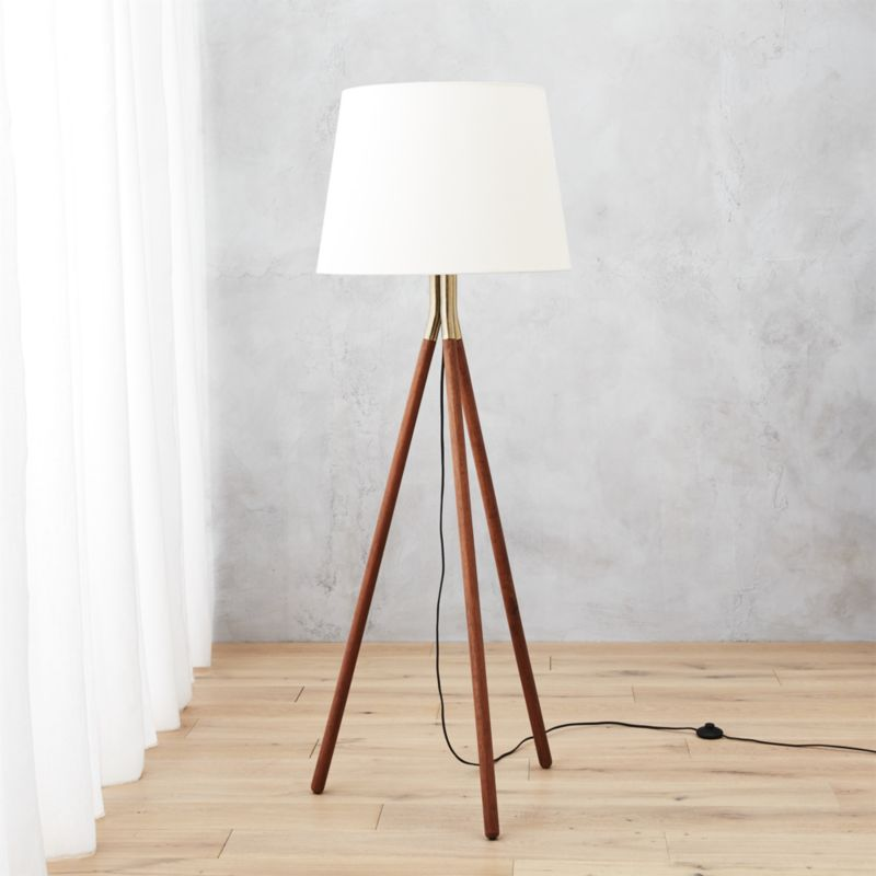 modern floor lamps tres floor lamp | cb2 KQDZNXD
