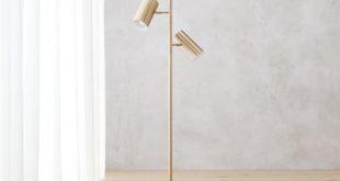modern floor lamps trio gold floor lamp | cb2 VEHFSWO